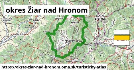 ikona okres Žiar nad Hronom: 32km trás turisticky-atlas  okres-ziar-nad-hronom