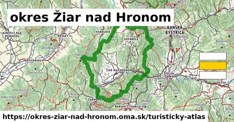ikona Turistická mapa turisticky-atlas  okres-ziar-nad-hronom