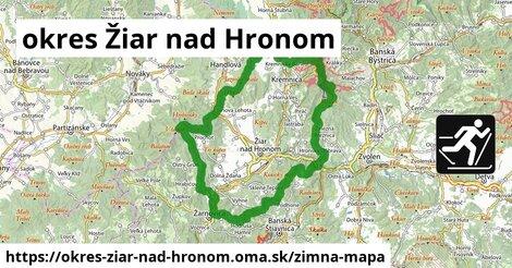 ikona okres Žiar nad Hronom: 84km trás zimna-mapa  okres-ziar-nad-hronom