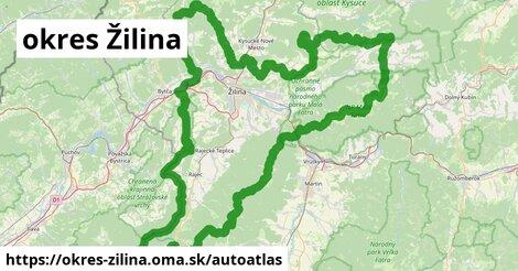 ikona Mapa autoatlas  okres-zilina