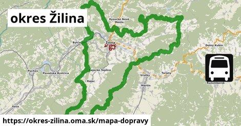 ikona okres Žilina: 304km trás mapa-dopravy  okres-zilina