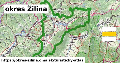 ikona okres Žilina: 674km trás turisticky-atlas  okres-zilina