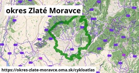 ikona okres Zlaté Moravce: 329km trás cykloatlas  okres-zlate-moravce