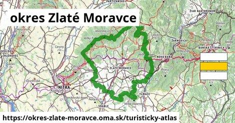 ikona okres Zlaté Moravce: 164km trás turisticky-atlas  okres-zlate-moravce