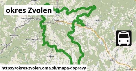 ikona Mapa dopravy mapa-dopravy  okres-zvolen