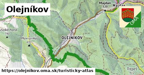 ikona Olejníkov: 100km trás turisticky-atlas  olejnikov