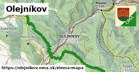 ikona Olejníkov: 22km trás zimna-mapa  olejnikov