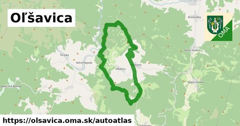 ikona Mapa autoatlas  olsavica