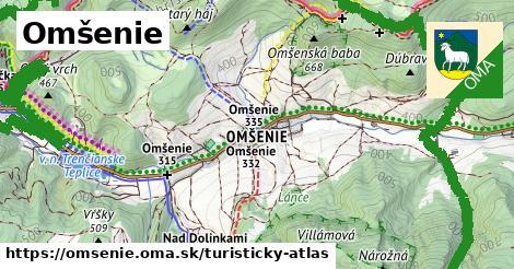 ikona Omšenie: 33km trás turisticky-atlas  omsenie