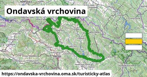 ikona Turistická mapa turisticky-atlas  ondavska-vrchovina