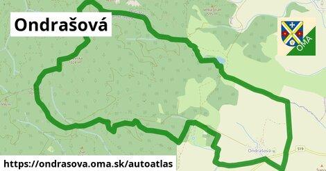 ikona Mapa autoatlas  ondrasova