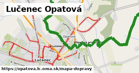 ikona Lučenec Opatová: 4,5km trás mapa-dopravy v opatova.lc