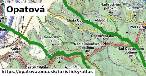 ikona Turistická mapa turisticky-atlas  opatova