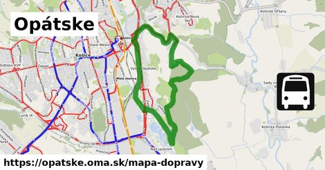 ikona Opátske: 17km trás mapa-dopravy  opatske
