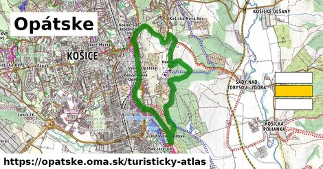 ikona Opátske: 1,07km trás turisticky-atlas  opatske