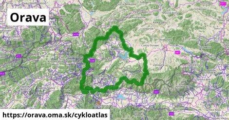 ikona Orava: 494km trás cykloatlas  orava