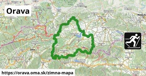 ikona Orava: 77km trás zimna-mapa  orava