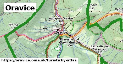ikona Oravice: 29km trás turisticky-atlas  oravice
