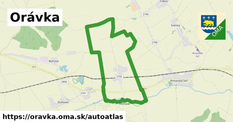 ikona Mapa autoatlas  oravka