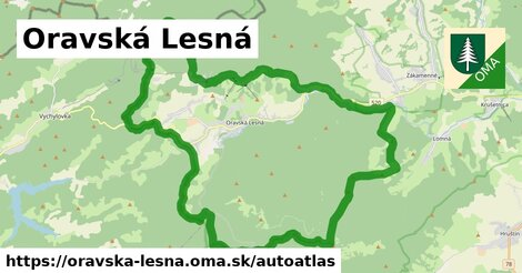 ikona Mapa autoatlas  oravska-lesna