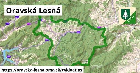 ikona Oravská Lesná: 44km trás cykloatlas  oravska-lesna