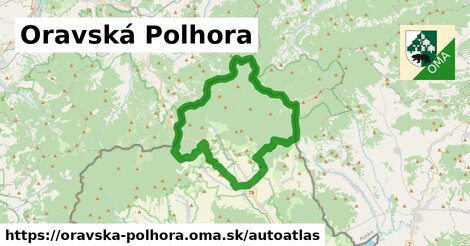 ikona Mapa autoatlas  oravska-polhora