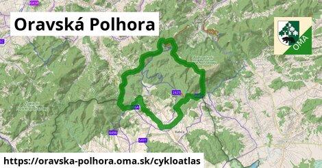 ikona Oravská Polhora: 20km trás cykloatlas  oravska-polhora
