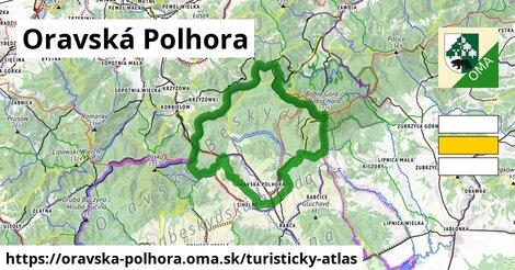 ikona Oravská Polhora: 63km trás turisticky-atlas  oravska-polhora