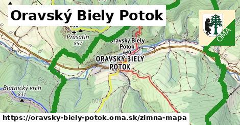 ikona Oravský Biely Potok: 2,4km trás zimna-mapa  oravsky-biely-potok