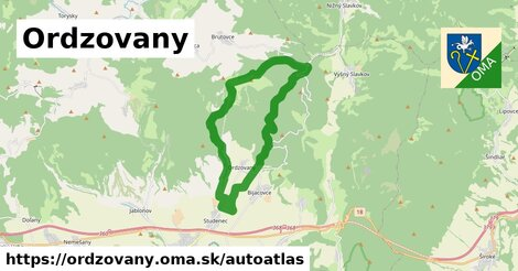 ikona Mapa autoatlas  ordzovany