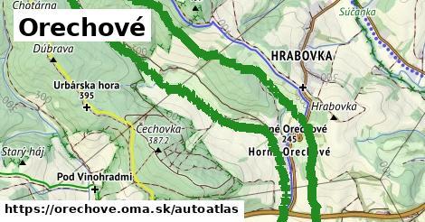 ikona Mapa autoatlas  orechove