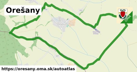 ikona Mapa autoatlas  oresany