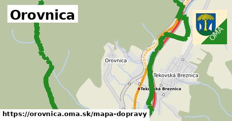 ikona Orovnica: 4,1km trás mapa-dopravy  orovnica
