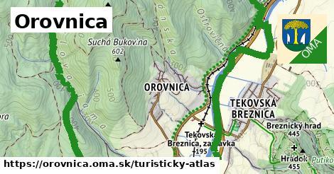 ikona Turistická mapa turisticky-atlas  orovnica