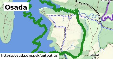 ikona Mapa autoatlas  osada