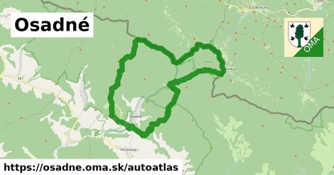 ikona Mapa autoatlas  osadne