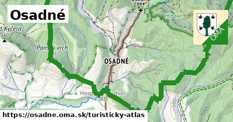 ikona Turistická mapa turisticky-atlas  osadne