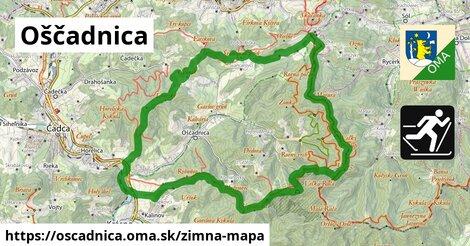 ikona Oščadnica: 37km trás zimna-mapa  oscadnica
