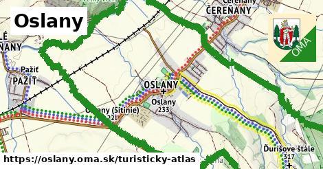 ikona Turistická mapa turisticky-atlas  oslany