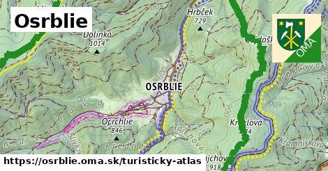 ikona Turistická mapa turisticky-atlas  osrblie