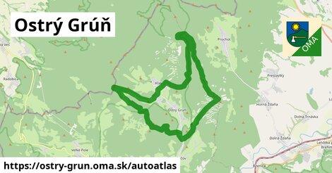 ikona Mapa autoatlas  ostry-grun