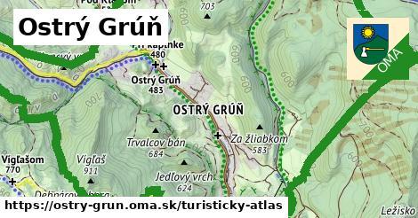 ikona Turistická mapa turisticky-atlas  ostry-grun