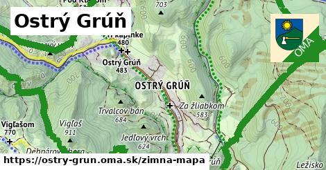 ikona Zimná mapa zimna-mapa  ostry-grun