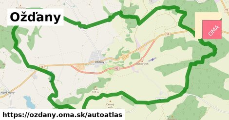 ikona Mapa autoatlas  ozdany