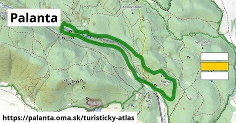 ikona Palanta: 3,8km trás turisticky-atlas  palanta