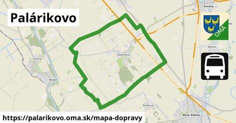 ikona Palárikovo: 19km trás mapa-dopravy  palarikovo