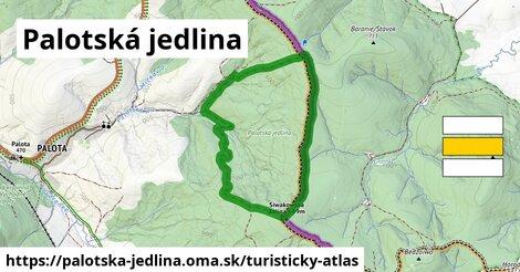 ikona Palotská jedlina: 0,91km trás turisticky-atlas  palotska-jedlina