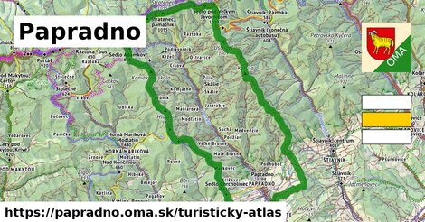 ikona Turistická mapa turisticky-atlas  papradno