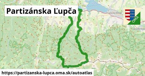 ikona Mapa autoatlas v partizanska-lupca