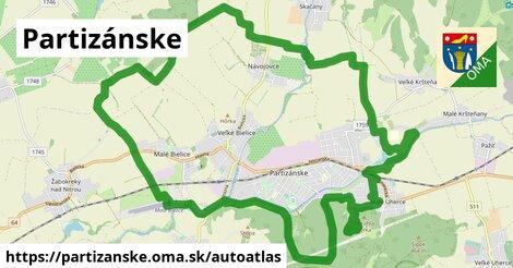 ikona Mapa autoatlas  partizanske